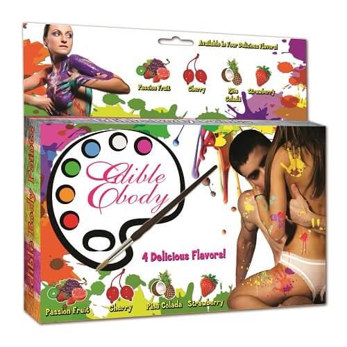 edible body paint stencil kit