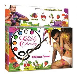 edible body paint stencil kit