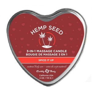 hemp seed 3-in-1 massage candle bougie de massage spice it up
