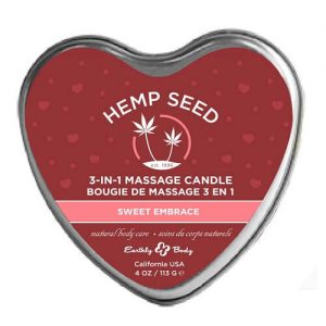 hemp seed 3-in-1 massage candle bougie de massage sweet embrace