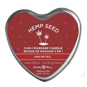 hemp seed 3-in-1 massage candle bougie de massage kiss or tell
