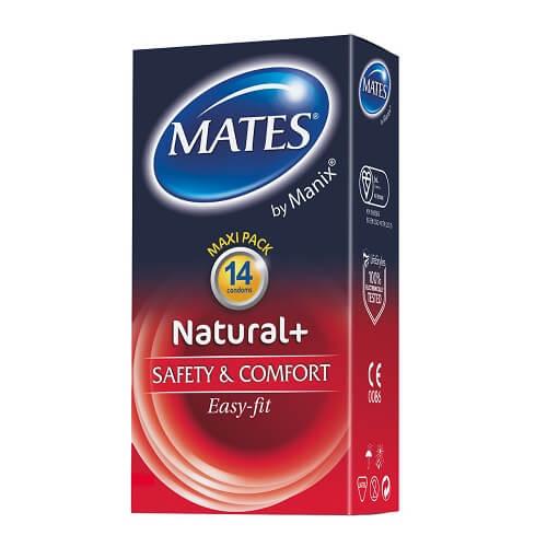 mates natural condoms 14pk