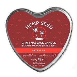 hemp seed 3-in-1 massage candle bougie de massage spice it up