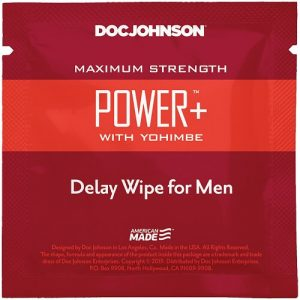 Power Delay with Yohimbe Delay Wipe For Men