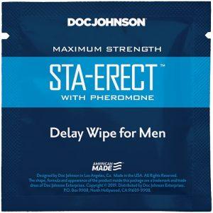 Sta-Erect with Pheromone Delay Wipe For Men