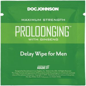 Prolong with Ginseng Delay Wipe for Men