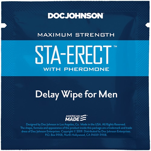 Sta-Erect with Pheromone Delay Wipe For Men