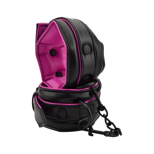 bound to please pink black ankle cuffs