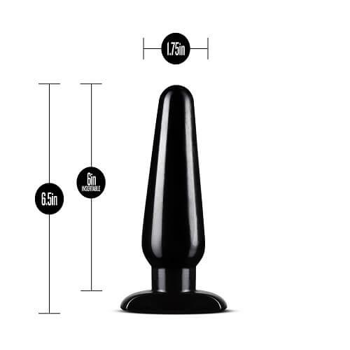 anal butt plug kit black