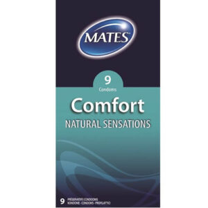 mates comfort natural condoms 9pack