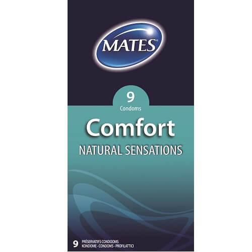 mates comfort natural condoms 9pack