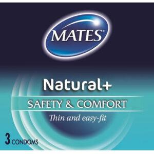 mates natural condoms 3pack
