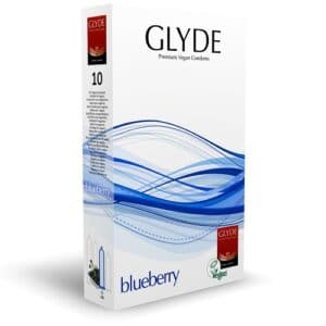 glyde blueberry condoms for safe and fun sex