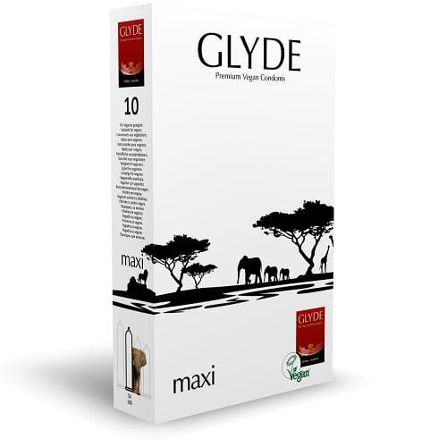 glyde maxi vegan condom for safe sex
