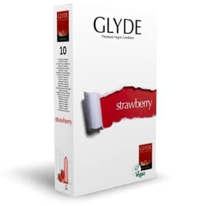 glyde strawberry - 10 pack condom pack