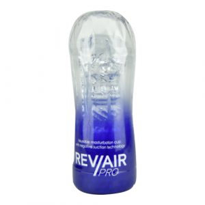 Rev-Air Pro Reusable Masturbation Cup with negative suction technology