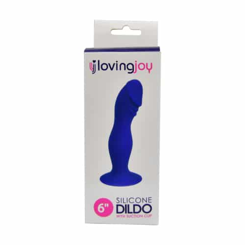 Loving Joy 6 Inch Silicone Dildo with Suction Cup Midnight Blue and hardness compatible