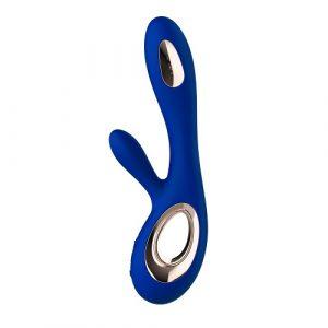 lelo soraya wave midnight blue g-spot and clit vibrator